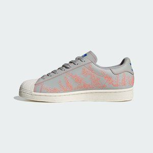NEW SZ 9 Adidas Superstar Pure Grey/White Sneakers